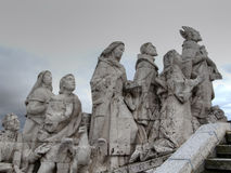 Faith, Cerro de los Angeles in Getafe, Madrid. monument inaugura. Ted by King Alfonso XIII Royalty Free Stock Photo