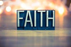 Faith Concept Metal Letterpress Type Royalty Free Stock Photos