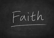 Faith. Concept word on blackboard background Royalty Free Stock Photos