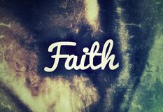 Faith Design/Texture. Colorful Abstract Stock Image