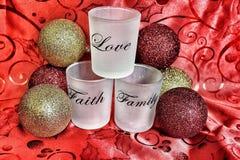 Faith Family Love. My Christmas decor Stock Photos