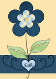 Faith Floral Greeting Card Royalty Free Stock Photography