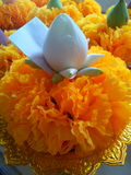Faith. Flower for pray with the Buddha in Thailand Stock Photography