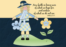 Faith Girl Background Stock Photography