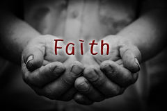 Faith in hand Royalty Free Stock Photos