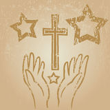 Faith hands Stock Images