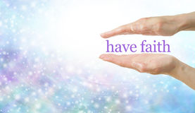 Faith Healing banner royalty free stock image