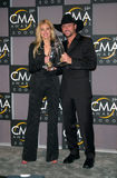 Faith Hill. Country stars FAITH HILL & husband TIM McGRAW, winners of Best Male & Best Female Vocalist awards, at the Country Music Assoc. Awards at the Grand Royalty Free Stock Photography