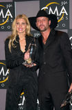 Faith Hill. Country stars FAITH HILL & husband TIM McGRAW, winners of Best Male & Best Female Vocalist awards, at the Country Music Assoc. Awards at the Grand Stock Image