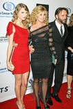 Faith Hill,Taylor Swift. Taylor Swift, Faith Hill and Tim McGraw  at the EIF's Women's Cancer Research Fund's An Unforgettable Evening Benefit, Beverly Wilshire Royalty Free Stock Photos