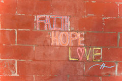 Faith hope love Royalty Free Stock Images