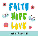 Faith, Hope, Love Stock Images