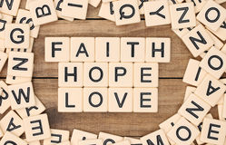 Faith, Hope and Love Royalty Free Stock Photos