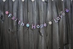 Faith Hope Love Royalty Free Stock Photography