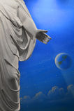 Faith in Jesus Statue Hand. Statue of Jesus with hand outstretched towards belivers Stock Photos