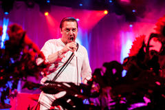 Faith no More concert. American alternative band Faith no More performing live at Stadium club, Moscow, Russia Stock Photos