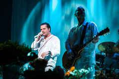Faith no More concert. 2 July, 2012 -  Moscow, Russia - American alternative band Faith no More performing live at Stadium club Royalty Free Stock Photos