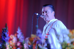 Faith No More. Singer Mike Patton of Faith No More during performance at festival Rock for People in Hradec Kralove, Czech republic, June 5, 2015 Stock Photography
