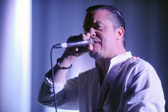Faith No More. Singer Mike Patton of Faith No More during performance at festival Rock for People in Hradec Kralove, Czech republic, June 5, 2015 Stock Image
