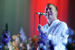 Faith No More. Singer Mike Patton of Faith No More during performance at festival Rock for People in Hradec Kralove, Czech republic, June 5, 2015 Stock Photos
