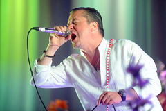 Faith No More. Singer Mike Patton of Faith No More during performance at festival Rock for People in Hradec Kralove, Czech republic, June 5, 2015 Stock Photo