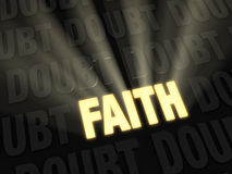 Faith Outshines Doubt Stock Photography