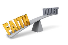 Faith Outweighs Doubt Royalty Free Stock Photo
