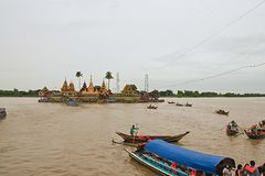 The faith of the people to The faith of  people to Wat Klang Nam Royalty Free Stock Image