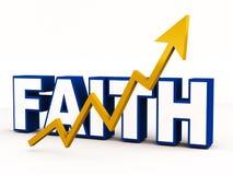 Rising faith royalty free illustration