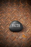 Faith Rock Rusty Background Royalty Free Stock Photography