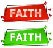 Faith sign. Faith modern 3d sign isolated on white background,color red and green Stock Photography