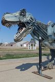 Home of Sue, the Most Complete T-Rex Ever Discovered. FAITH, SOUTH DAKOTA, September 7, 2018 : The town, known as Home of Sue, the Most Complete T-Rex Ever royalty free stock image