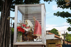 Faith in St. George in Rio de Janeiro. Rio de Janeiro, Brazil, April 9, 2017: In Rio de Janeiro there is great devotion to St. George, known as The Holy Warrior Stock Image