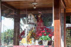 Faith in St. George in Rio de Janeiro. Rio de Janeiro, Brazil, April 9, 2017: In Rio de Janeiro there is great devotion to St. George, known as The Holy Warrior Stock Images