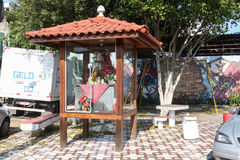 Faith in St. George in Rio de Janeiro. Rio de Janeiro, Brazil, April 9, 2017: In Rio de Janeiro there is great devotion to St. George, known as The Holy Warrior Royalty Free Stock Images