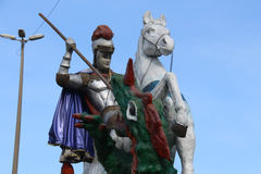 Faith in St. George in Rio de Janeiro. Rio de Janeiro, Brazil, April 9, 2017: In Rio de Janeiro there is great devotion to St. George, known as The Holy Warrior Royalty Free Stock Image