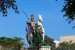 Faith in St. George in Rio de Janeiro. Rio de Janeiro, Brazil, April 9, 2017: In Rio de Janeiro there is great devotion to St. George, known as The Holy Warrior Stock Photography