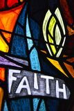 Faith stained glass Stock Images