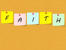 Faith Sticky Notes on Corkboard Royalty Free Stock Images