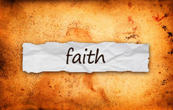Faith title on piece of paper Stock Photography