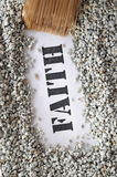 Faith -- treasure word series Stock Images