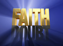 Faith Vanquishes Doubt Royalty Free Stock Photography