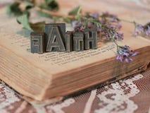 Faith Word Art. In Printer Blocks royalty free stock image
