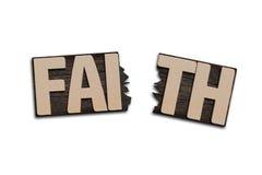 FAITH word with broken board Stock Image