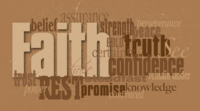 Faith Word Graphic Montage Stock Photography