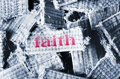 Faith word Royalty Free Stock Photos