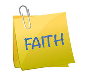 Faith word on piece paper illustration Royalty Free Stock Image