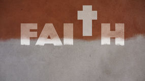Faith Written on a Painted Wall Royalty Free Stock Photo