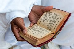 Faithful and amharic book Royalty Free Stock Images