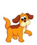 Faithful dog. Colored illustration of a nice dog Stock Images